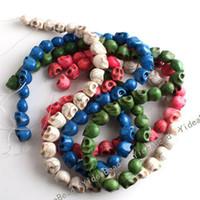 Wholesale 260pcs New Fashion Mixed Skull Turquoise Gemstone Loose Beads Fit Bracelet Necklace DIY