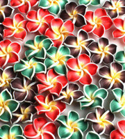 Wholesale 72 HOT Mixed Flower Fimo Polymer Clay Beads Colorful Clay Beads Fit Diy CHARMS Bead Handcraft