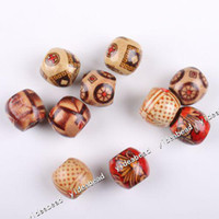 Wholesale Assorted colorful Charms Wooden Bead fitting fit bracelet and necklace