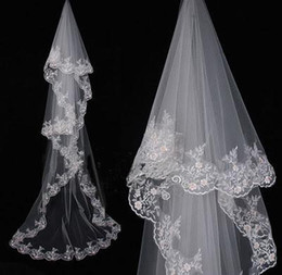 Wholesale 1T White Ivory Cathedral Wedding Bridal Veil M