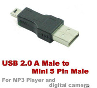 Wholesale Mini USB Pin Male to USB Male Adapter Converter for MPP MP4