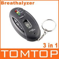 Wholesale 3 in1 alcohol analyzer breath tester breathalyzer alcohol testers digital LCD black H17