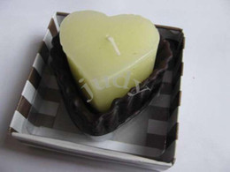 Wholesale 10pcs Chocolate Scented heart shaped Candle