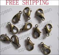 new   Charm Fashion Bronze Plated Metal Alloy Lobster Claw Beads Clasp and Hooks 12*6MM