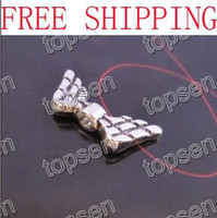 Wholesale Silver jewellery findings Jewelry Bronze Angel Wing Charm Necklace Pendant Drop mm