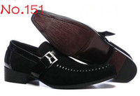 Wholesale Fashion Men s Black Dress Shoes Italian Brand Man Suede Leather Casual Office Shoes With Buckle G5275e