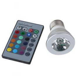 MJJC 3W 12V 220V E27 GU10 RGB LED Bulb Light for Decorating Lighting in the party and Holidays