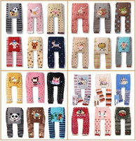 Wholesale baby pants infant pp warmers baby clothes kids pants baby gift pp pants animal trouses baby leggins