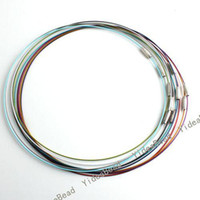 Chokers wire choker - 50pcs New Mixed Steel Memory Wire Necklace Choker