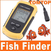 Wholesale 100m Portable Sonar Sensor Fish Finder Fishfinder LED Back lighting Alarm Beam Transducer H1863