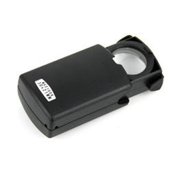 Wholesale New Pull Type Jewelry Magnifier with LED Light Source Black