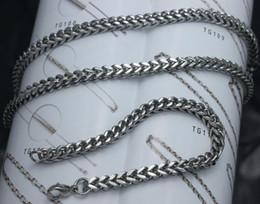 MEN'S favour Jewelry Set,Titanium steel silver Handicraft square polishing chain Necklace & Bracelet