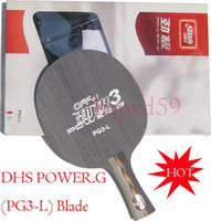 Wholesale free ship Genuine table tennis blade DHS POWER G PG3 L hand shake ply table tennis racquet pingpong racket