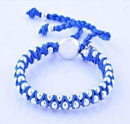 2014 New style 925 Silver handmade Knit fit multi beads Friendship Bracelets taut clasp Li051