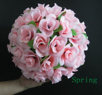 Wholesale 8PCS Silk Simulation Fake Artificial Flower Wedding Party Ball Flower five colours CM