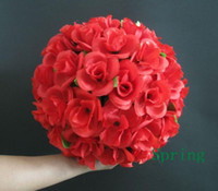 Wholesale 2pcs New Fashion Silk Simulation Fake Artificial Flower Wedding Party Ball Flower Five colours CM