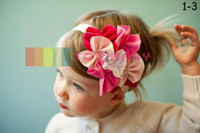 Wholesale 2011 TOP BABY girls hair ornaments babys flower Headbands Childrens Hair Accessories QY804