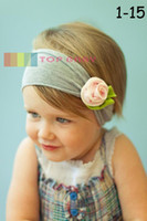 venda por atacado enfeites de cabelo-Meninas cabelo enfeites de fraldas da flor Headbands Childrens Cabelo Acessórios 60 Designs