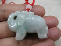 Cheap Lavender 100% Natural A Jade jadeite pendant elephants