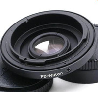 Wholesale CANON FD Lens to Nikon Body Mount Adapter Ring Glass