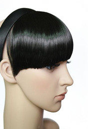Wholesale 4 dark brown band Hairpiece Clip on Bangs Wigs Extension EMP
