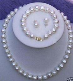 Wholesale Rare salt water Pearl Necklace Bracelet Earring Set quot