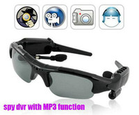 Wholesale Sunglasses mp3 player Hidden DV DVR Recorder Bluetooth headset GB Spy Camera FM MP3 CA5000316