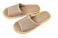 Deslizador de la sandalia de lino / amantes deslizadores / deslizador de verano / pantofle --- 20pairs / lot