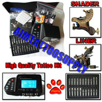 Wholesale Complete Tattoo Kit Damascus tattoo machine Stainless steel tip
