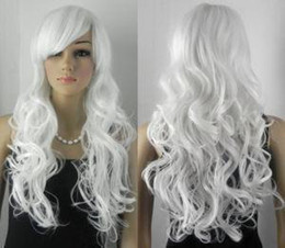 Wholesale white curly Wig wigs long women s Wigs Wigs amp Facial Hair