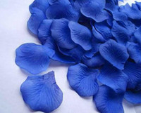 Wedding silk rose petals - 15pack High quality artificial flower silk rose petals royal blue lake blue mint green turquoise for Weddings decoration pack