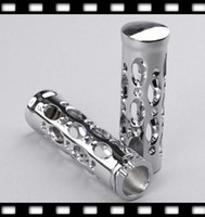 Wholesale motorcycle handlebar grip grips handle bar girp chrome harley premium handlebar grips MHG002