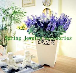 120PCS Lavender Bouquet Simulation Silk   Artificial flower,Lilac   Dark Purple   White colour