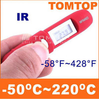Wholesale Pen Shape Non Contact IR Infrared Remote Sensing Digital Thermometer C C LCD Gift Box H1780
