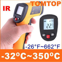Wholesale Brand New Non Contact Digital IR Infrared Thermometer C LCD Display With Laser Gun H4331