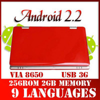 Wholesale 7 inch Android Netbook VIA WIFI Mb GB HD laptop Support MACX GB TF NAND FAST FLASH