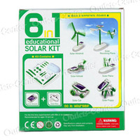 Wholesale 6 in Educational Solar Kit toy solar energy or battery power to educate your child