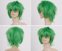 African-American Wigs straight 1 Green cosplay wig cosplay hair cosplay wigs Party wigs Halloween wig HEAT-RESISTANT FIBER alice turn