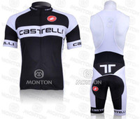 Wholesale Hot sale CASTELLI White and black team CYCLING CLOTHING with shorts bike jersey sports wear