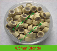 Wholesale 4 mm silicone micro ring links for hair extensions hair extension tools Blonde mix color
