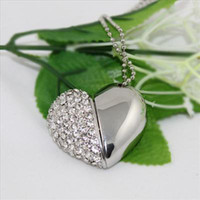 Wholesale 5pcs GB USB real capacity heart shape Jewelry USB Promotion USB flash driver Gift USB