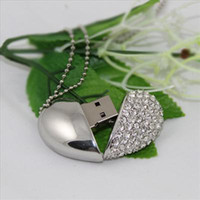 Wholesale 10pcs GB USB real capacity heart shape Jewelry USB Promotion USB flash driver Gift USB