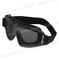 Wholesale Shock Resistant Outdoor Glasses Goggles Eye Protective with Net Lens Flexible Adjustable Band