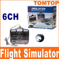 Wholesale 3D CH USB RC Flight Simulator Simulater Flying Simulator For Helicopter Airplane Gift Boxes RM161