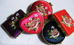 Best Makeup Mirror Portable Stock Silk Embroidery Double side mix color styles 30pcs Free