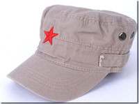Wholesale Fashion Military Caps Cheap Embroidered Star Cotton Flat Hats Mix color Free