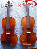 Wholesale Flame top Handmade light wooden Violin for Junior User choose different colour amp size