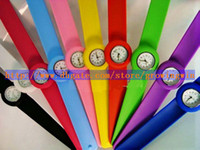 Wholesale 50pcs High Quality Kids Children Slap on Watch Silicone Mini Sport Watches