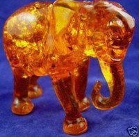 Wholesale Wonderful Rare Tibet Amber elephant figurines