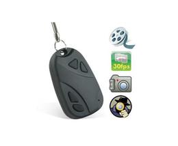 Apoyo TF espía llave del coche de la cámara oculta espía cámara 30FPS cámara de vídeo DVR 808 1pc
